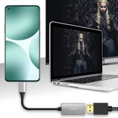 Olixar OnePlus 9 USB-C To HDMI 4K 60Hz Adapter - Grey