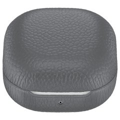 Official Samsung Galaxy Buds Live Genuine Leather Case - Grey