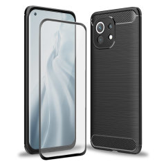 Olixar Sentinel Xiaomi Mi 11 Case & Glass Screen Protector - Black
