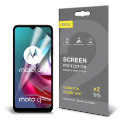Olixar Motorola Moto G10 Film Screen Protectors - Two Pack