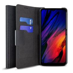 Olixar Leather-Style Motorola Moto G10 Wallet Stand  Case - Black