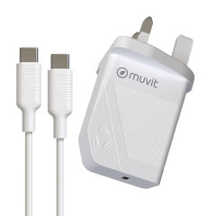 Muvit Eco-Friendly 12W Wall Charger & 1.2M USB-C Cable - White