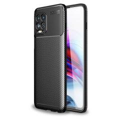 Olixar Carbon Fibre Motorola Edge S Protective Case - Black