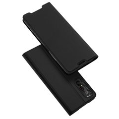 Dux Ducis Sony Xperia 1 II Leather-Style Wallet Case - Black