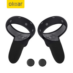 Olixar VR Controller Non Slip / Anti-Throw Protective Sleeve - Black