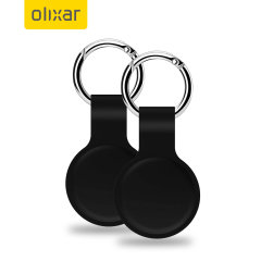 Olixar Silicone Protective Skin For Apple AirTags 2 Pack - Black