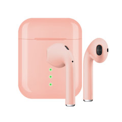 FX True Wireless Earphones With Microphone - Rose Gold