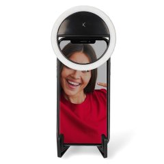 Ksix Studio Live Pocket Ring Light With Stand - Black