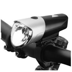 USB Charged Compact Front Bike 80 Lumens Light W/ 3 Settings  - Silver