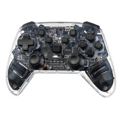 Baseus Motion Sensing Vibrating Transparent Wireless Gamepad - Black