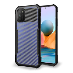 Olixar Exoshield Carbon Fibre Xioami Redmi Note 10 Pro Case - Black