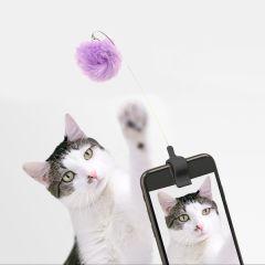 Kikkerland Fuzzy Toy Selfie Clip for Cat Photos - Multicolour