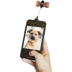 Kikkerland Dog Treat Holder Selfie Clip for Puppy Photos - Black