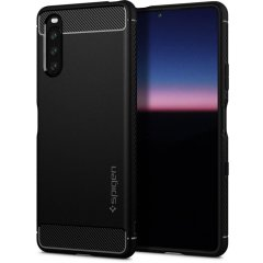 Spigen Rugged Armor Sony Xperia 10 III Protective Case - Matte Black