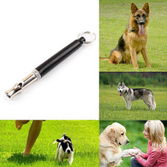 Adjustable Ultrasonic Sound Whistle for Pet Training - Black