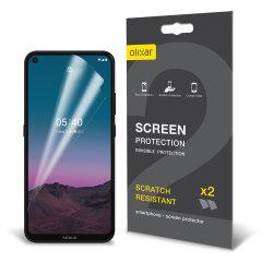 Olixar Nokia 5.4 Film Screen Protectors - 2 Pack