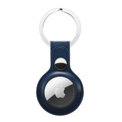 Olixar Leather-Style Protective Skin For Apple AirTags - Navy Blue