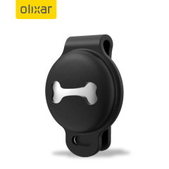 Olixar Protective AirTags Case With Slide-On Holder Clip - Black
