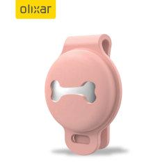 Olixar Apple AirTag Silicone Pet Collar Clip-On Case - Pink