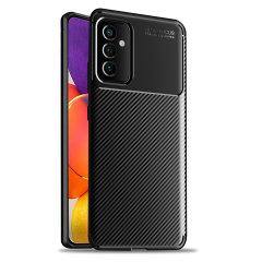 Olixar Carbon Fibre Samsung Galaxy A82 5G Case - Black