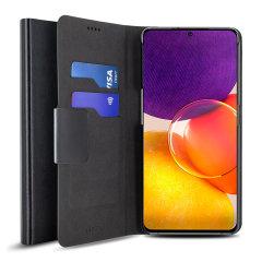 Olixar Leather-Style Samsung Galaxy Quantum 2 Wallet Case - Black