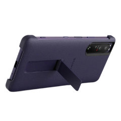 Official Sony Xperia 1 III Style Cover Protective Stand Case - Purple