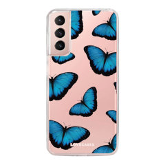 LoveCases Samsung Galaxy S21 FE Gel Case - Blue Butterfly