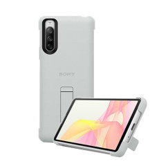 Official Sony Xperia 10 III Style Cover Protective Stand Case - White