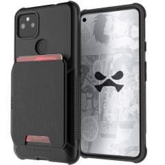 Ghostek Exec 4 Google Pixel 5a Magnetic Leather Wallet Case - Black