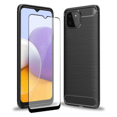 Olixar Sentinel Samsung Galaxy A22 5G Case and Glass Screen Protector