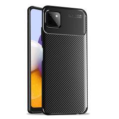 Olixar Carbon Fibre Samsung Galaxy A22 5G Protective Case - Black