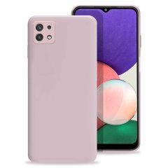 Olixar Samsung Galaxy A22 5G Soft Silicone Case - Pastel Pink