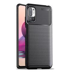 Olixar Carbon Fibre Xiaomi Redmi Note 10 5G Case - Black