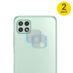 Olixar Samsung Galaxy A22 5G Tempered Glass Camera Protectors - 2 Pack