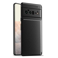 Olixar Carbon Fibre Google Pixel 6 Pro Tough Case - Black