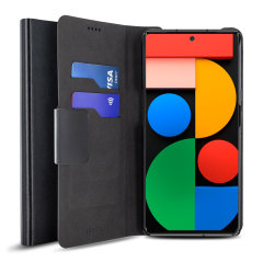 Olixar Leather-Style Google Pixel 6 Wallet Case - Black