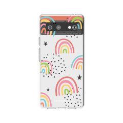 LoveCases Google Pixel 6 Pro Gel Case - Abstract Rainbow