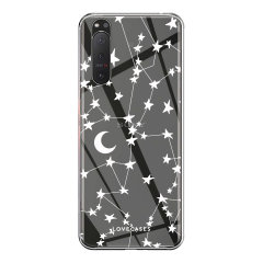 LoveCases Sony Xperia 5 III Gel Case - White Stars And Moons
