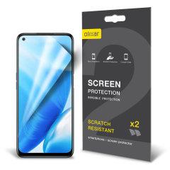 Olixar OnePlus Nord N200 5G Film Screen Protectors - 2 Pack