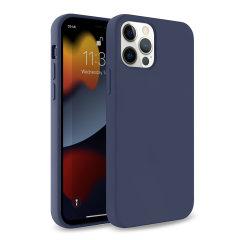 Olixar Soft Silicone iPhone 13 Pro Case - Midnight Blue