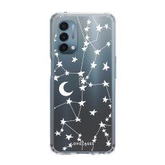LoveCases OnePlus Nord N200 5G Gel Case - White Stars & Moon