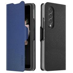 Araree Bonnet Samsung Galaxy Z Fold 3 5G Wallet Stand Case - Ash Blue