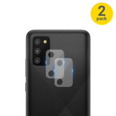 Olixar Samsung Galaxy A03S Tempered Glass Camera Protectors- Twin Pack