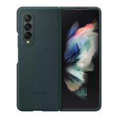 Official Samsung Galaxy Z Fold 3 Soft Silicone Case - Green