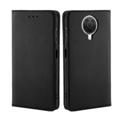 Leather-Style Nokia G20 Wallet Stand Case - Black