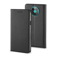 Olixar Leather-Style Nokia 6.3 Wallet Stand Case - Black