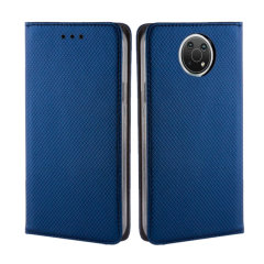 Olixar Leather-Style Nokia G10 Wallet Stand Case - Navy Blue