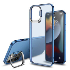 Olixar iPhone 13 Pro Max Camera Stand Case - Blue
