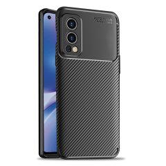 Olixar Carbon Fiber Oneplus Nord 2 5G Protective Case - Black