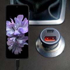 Olixar Samsung Galaxy Z Flip 3 36W Dual Car Charger & 1.5m USB-C Cable